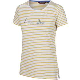 Regatta Olwyn Camiseta Mujer, beige/blanco